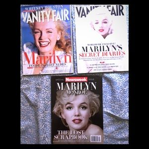 3 Magazine Marilyn Monroe features/cover set